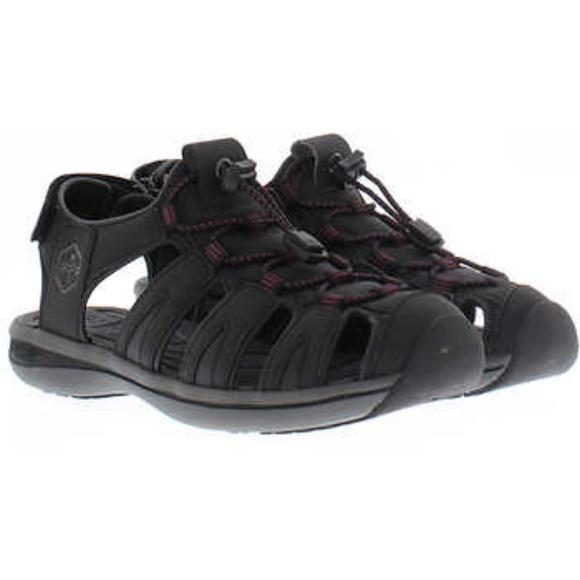 New Womens Khombu Gray Ashley Style Active Adjustable Sandals Size US 6 - 24
